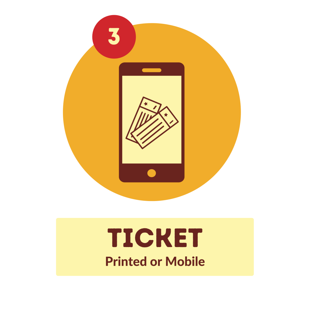 Ticket printed or mobile