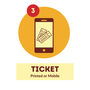 Ticket: Printed or Mobile